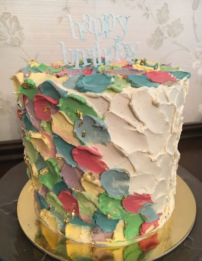 Red Velvet Cake with Paint Palette icing
