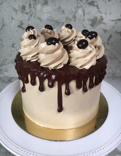 Chocolate cake with mocha buttercream